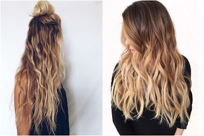 Champagne Ombre Hair - Two Tone Hair Color Dark On Top Light On Bottom