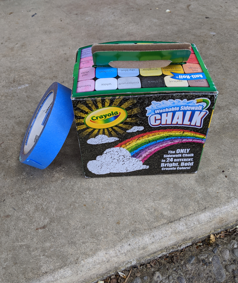 use tape for sidewalk chalk