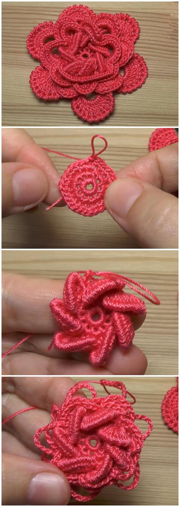 How To Crochet Flower Rose