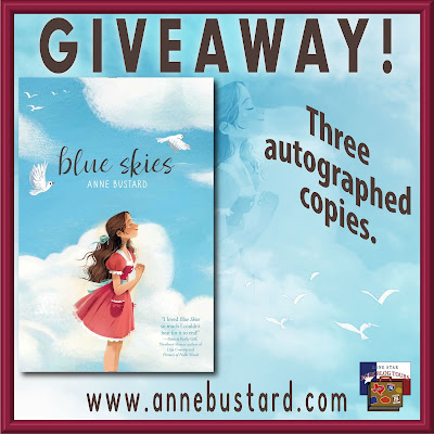 Blue Skies tour giveaway graphic. Prized to be awarded precede this image in the post text.