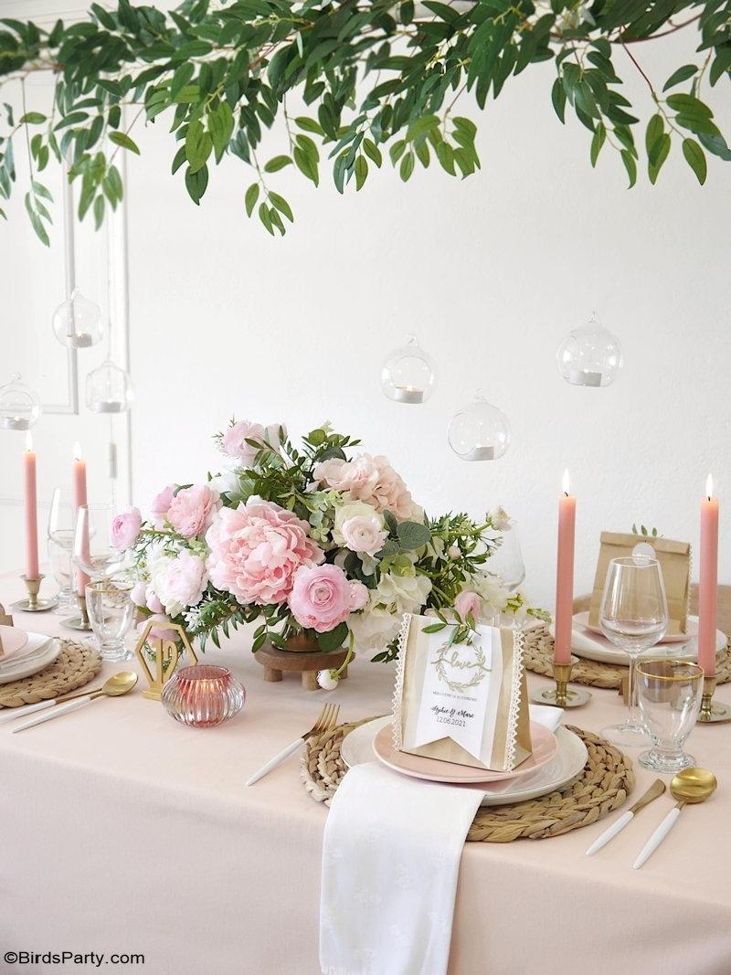 Idées DIY Pour Un Petit Mariage - idées créatives à faire soi même faciles et abordables pour un mariage simple à la maison ou ailleurs!