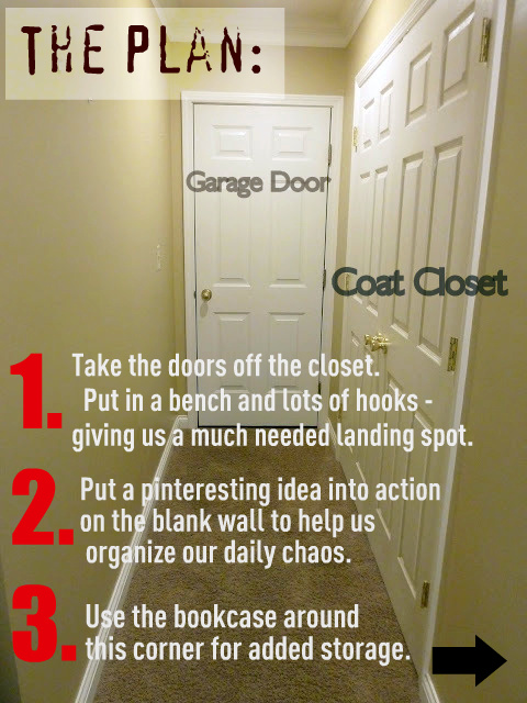 cheap garage ideas - Our Fifth House Progress in the Mudroom Closet Doors