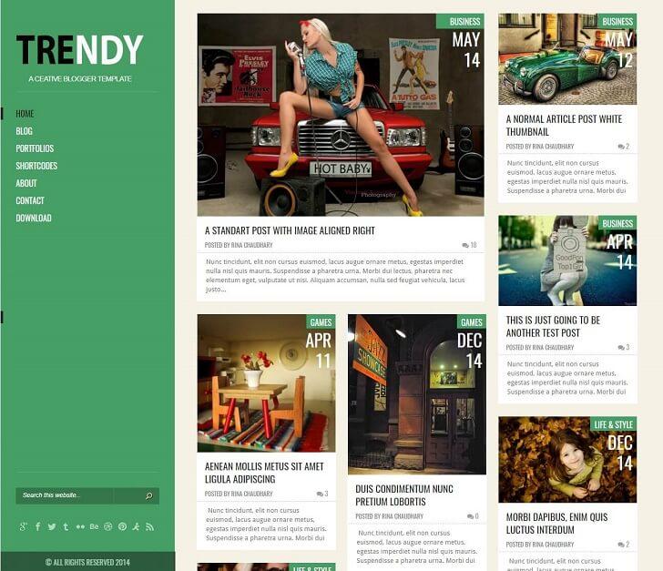 Модна тема за Blogger в стил WordPress