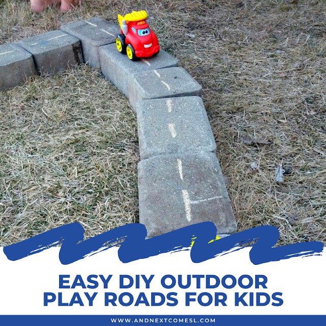 The easiest DIY outdoor play roads for kids ever