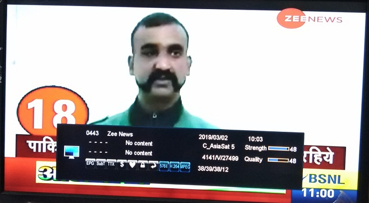 Zee News free to Air from Asiasat 7 Satellite - Free to Air