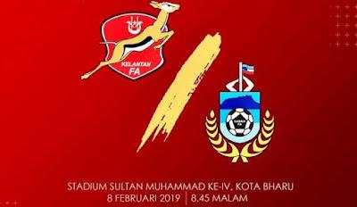 Live Streaming Kelantan vs Sabah Liga Premier 8.2.2019