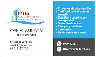 Tarjeta personal para ingeniero civil