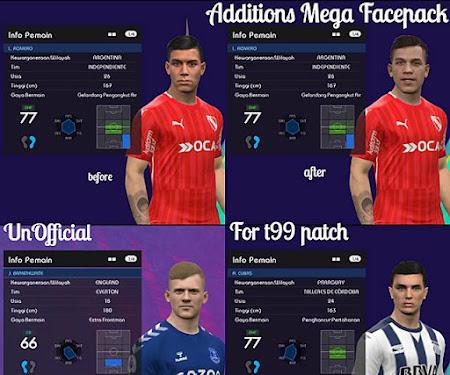 PES 2017 Additions Mega Facepack T99 Patch V2 (531+ Faces)