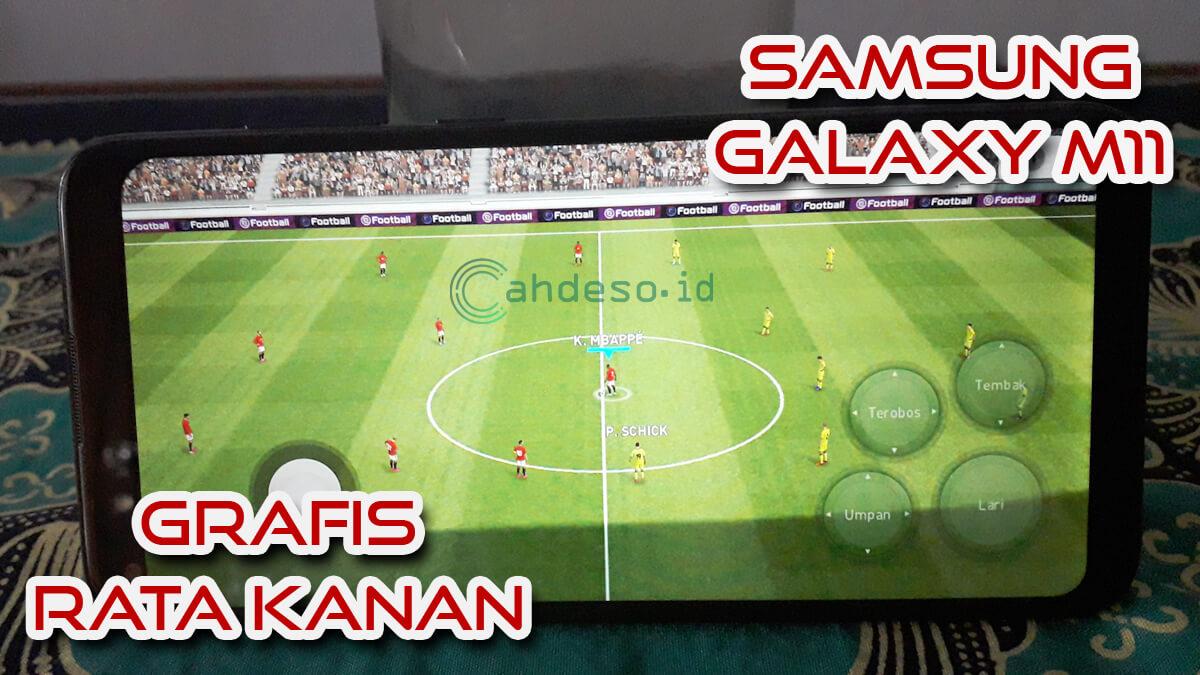 Main PES 2021 Mobile Rata Kanan di Samsung Galaxy M11