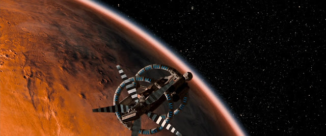 Spacecraft in Mars orbit from Red Planet movie