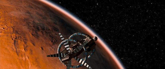 Spacecraft in Mars orbit from Red Planet movie