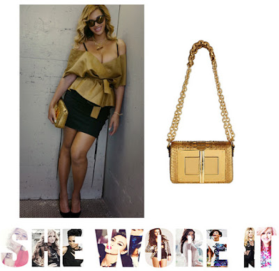 Beyonce, Tom Ford, Natalia Python Square Shoulder Bag, Gold, Python, Harrods, D&G, Zara, Asos