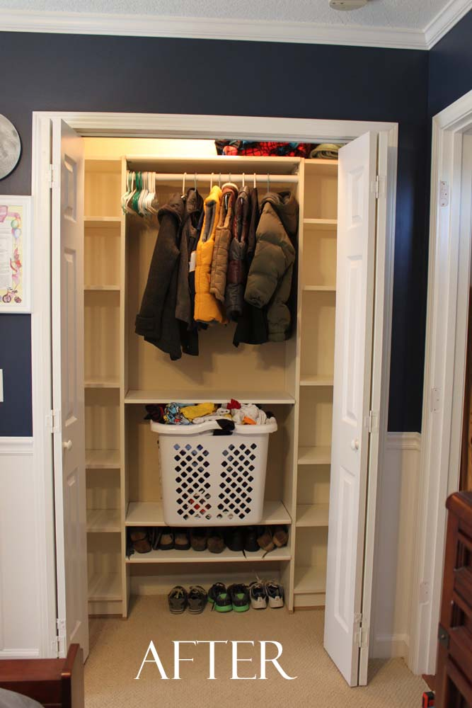 Peach Street's Blog Our Under $100 Closet System  Ikea Hack