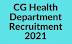 स्वास्थ्य विभाग' छत्तीसगढ़ में डाटा एंट्री ऑपरेटर,ड्राईवर एवं अन्य पदों में भर्ती 2021