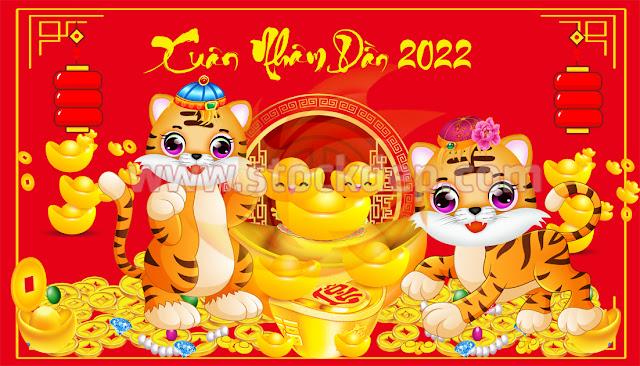 Vector Cặp Hổ Vàng 2022