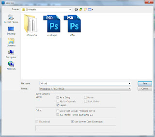 Import the psd file