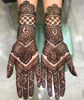 Single bell Mehndi designs