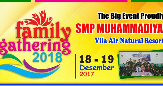 Desain Banner Family Gathering SMP Muhammadiyah 2 Jakarta