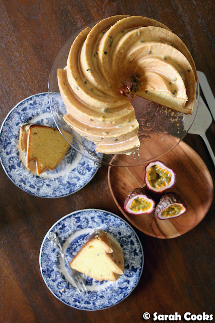 Passionfruit and Sour Cream Bundt Cake