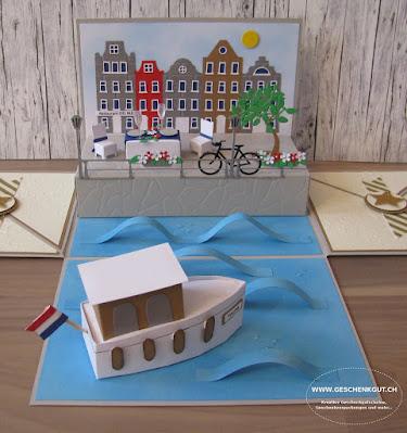 Geschenkbox Explosionsbox Überraschungsbox Amsterdam Reise Reisegutschein