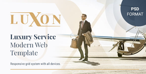 LUXON - Luxury Services Modern Web PSD Template