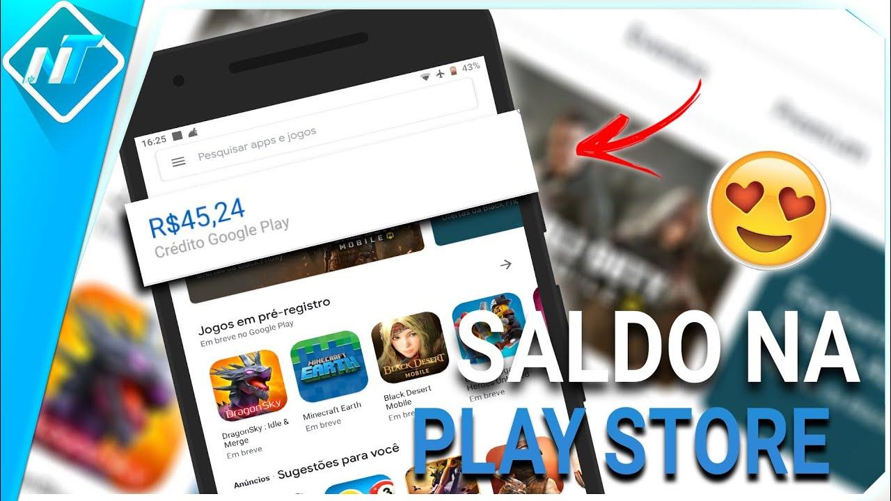 Como conseguir CRÉDITOS na Google play store