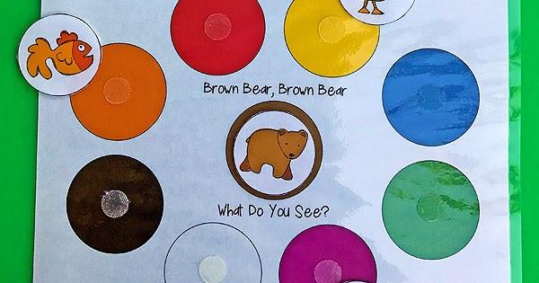 Brown Bear Color Matching Printable For Toddlers Totschooling Toddler Preschool Kindergarten Educational Printables