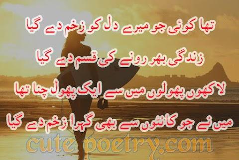 Urdu Sad Poetry and cute poetry
