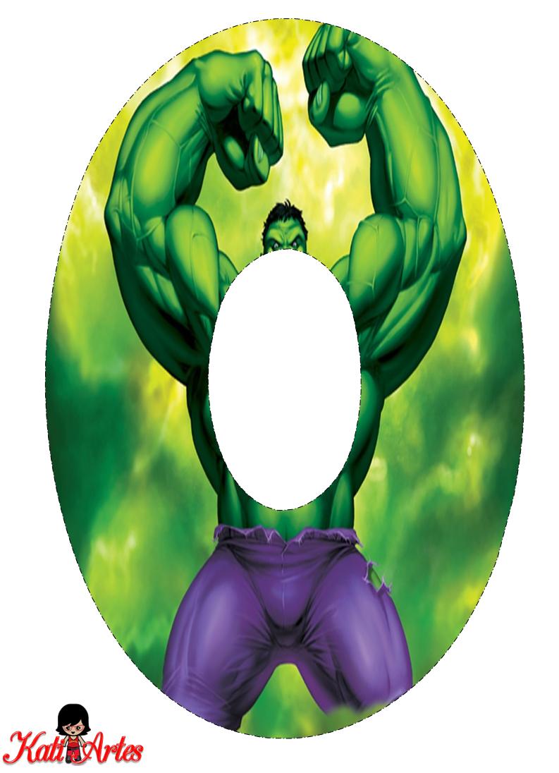 Alfabeto Gratis de Hulk. - Oh my Alfabetos!