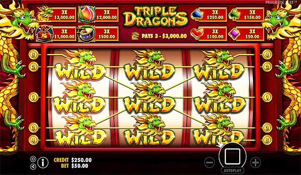 Main Gratis Slot Indonesia - Triple Dragons (Pragmatic Play)