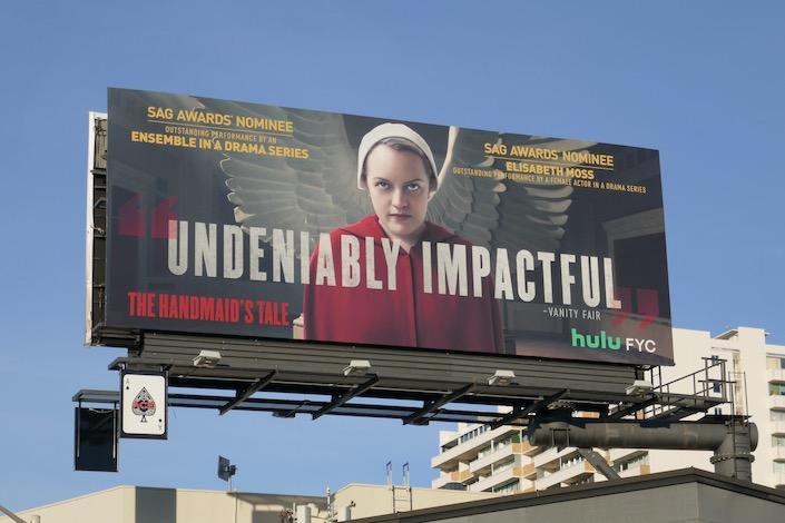 Handmaid' Tale s3 Elisabeth Moss SAG Award nominee billboard