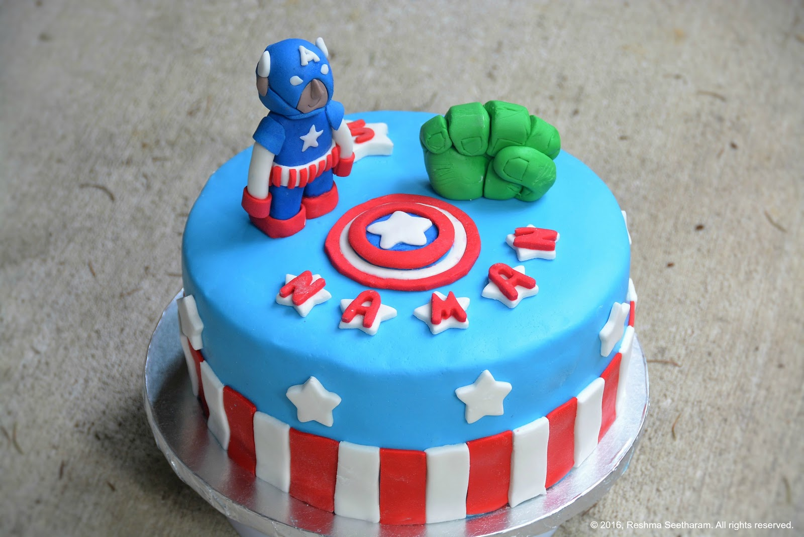 Birthday Cake Image With Name Reshma : My Foodarama by Reshma Seetharam: Avengers Captain America ...