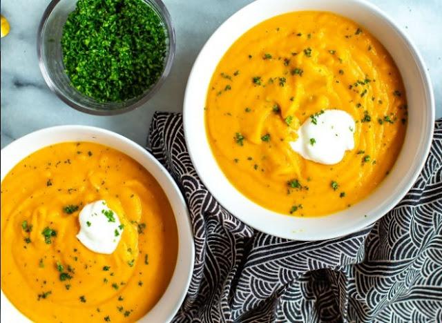 Vegan Carrot Ginger Soup #soup #dinner