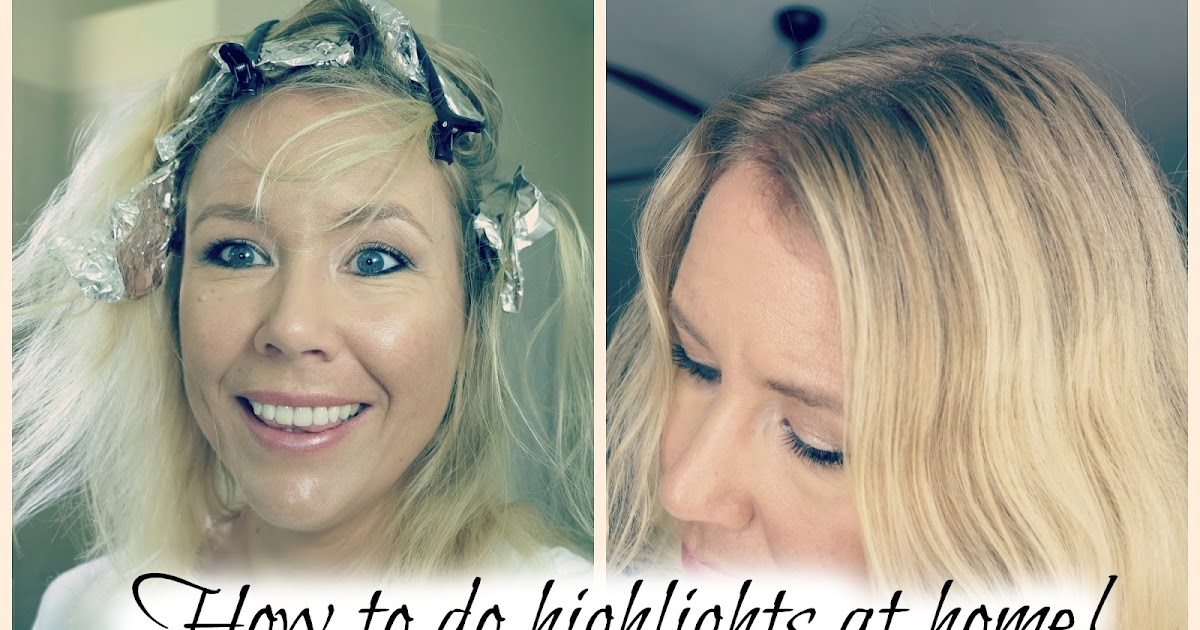 how to do highlights at home with aluminum foil and hair clips