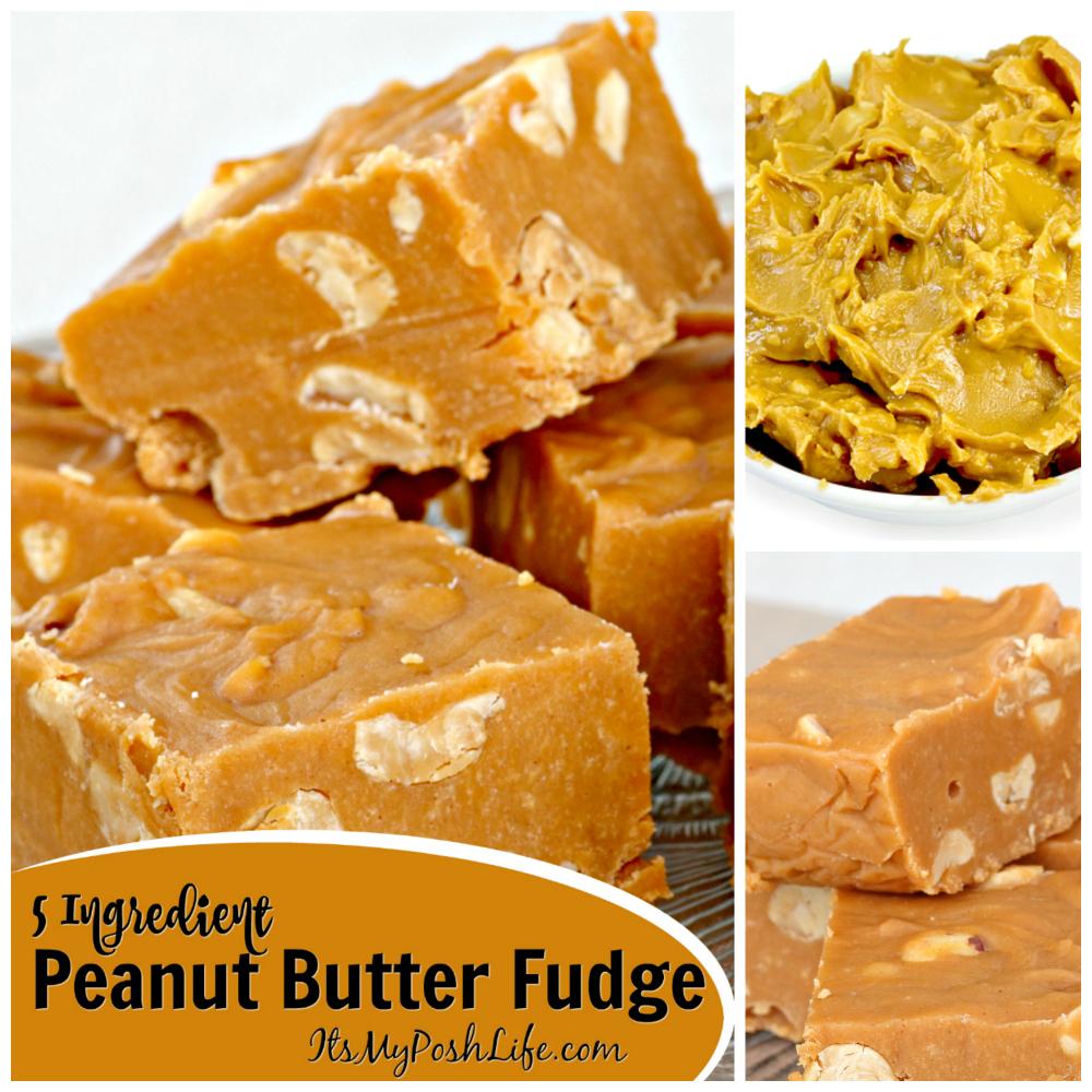 Five Ingredient Peanut Butter Fudge