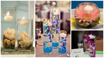 centros-mesa-flores-velas-flotantes