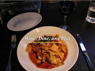 The pappardelle pasta dish at Ecco restaurant in Atlanta, Georgia