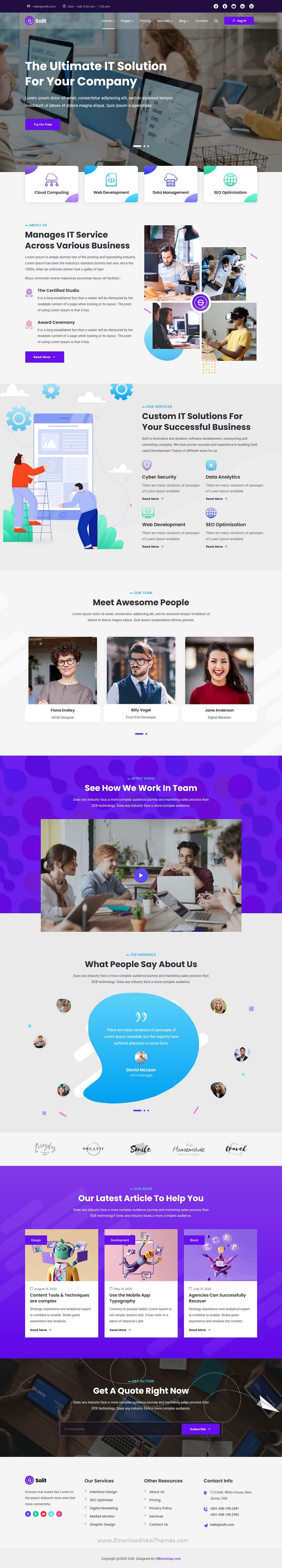 IT Startup HTML Template