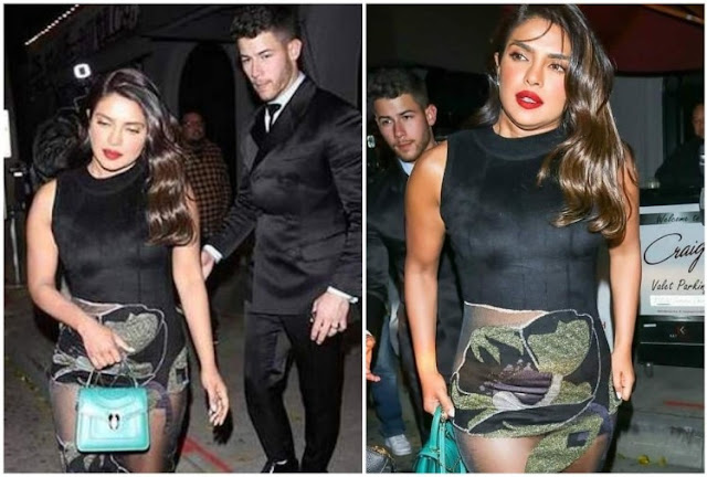 Priyanka survived the victim of Oops Moment in a transparent dress, Used the bag wisely