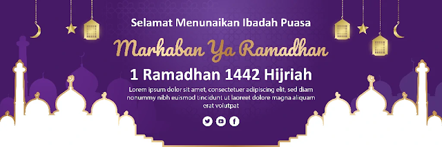 Download Template Banner Ramadhan  Gratis
