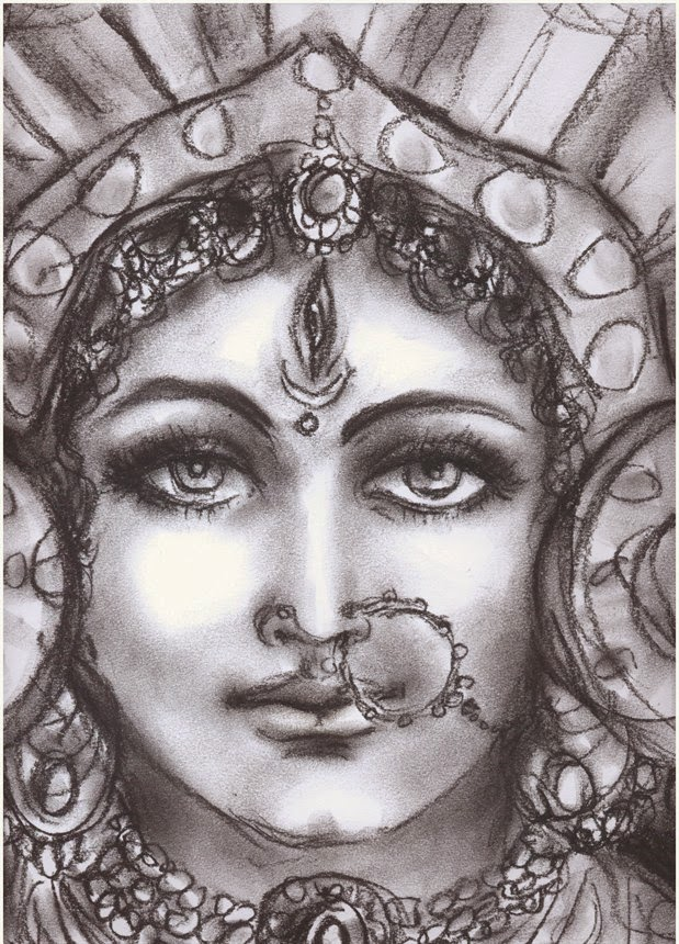 Goddess Durga Sketch Hindu God