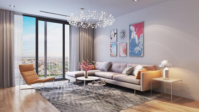 hình ảnh phòng khách chung cư Hinode City