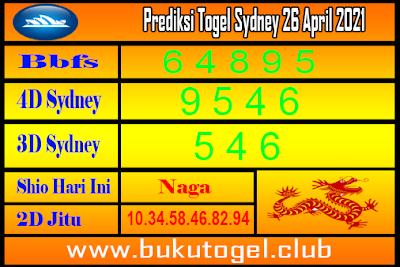 Syair Sydney 26 April 2021