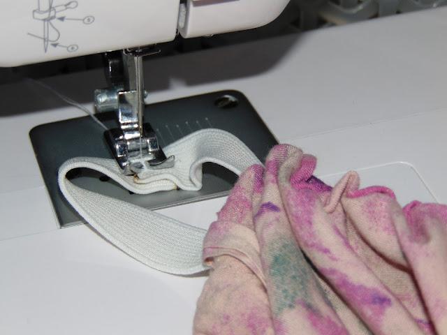 szycie spódniczki na gumie
