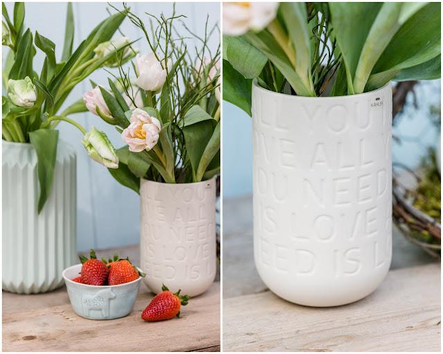 Friday Flowerday, Pomponetti, Vase Lovesong von Kähler