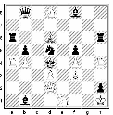 Problema de mate en 2 compuesto por Paul Keres (1º Premio, Norsk Sjakkblad 1933)