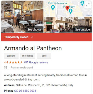 Armando al Pantheon- Screenshot from Google - March 2020