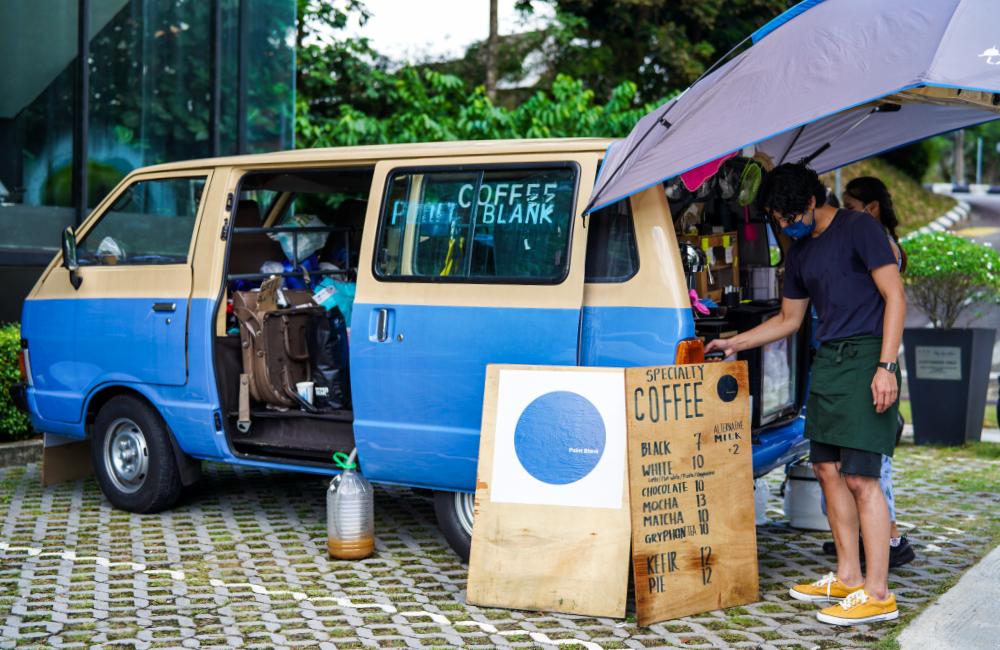point blank coffee van