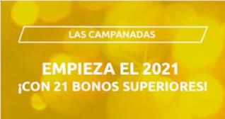 Campanadas 2021 Mondobets 21 bonos 200 primeros
