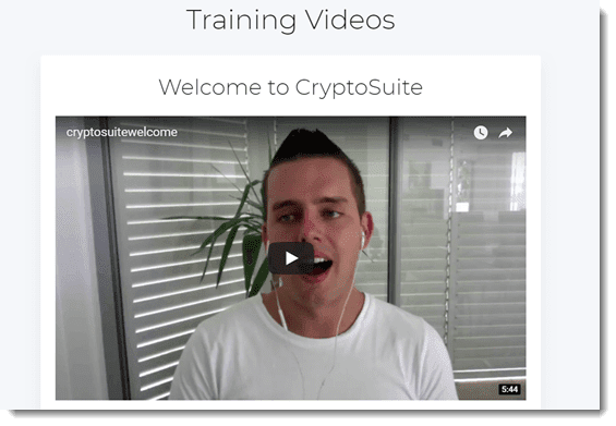 Cryptocurrency training
